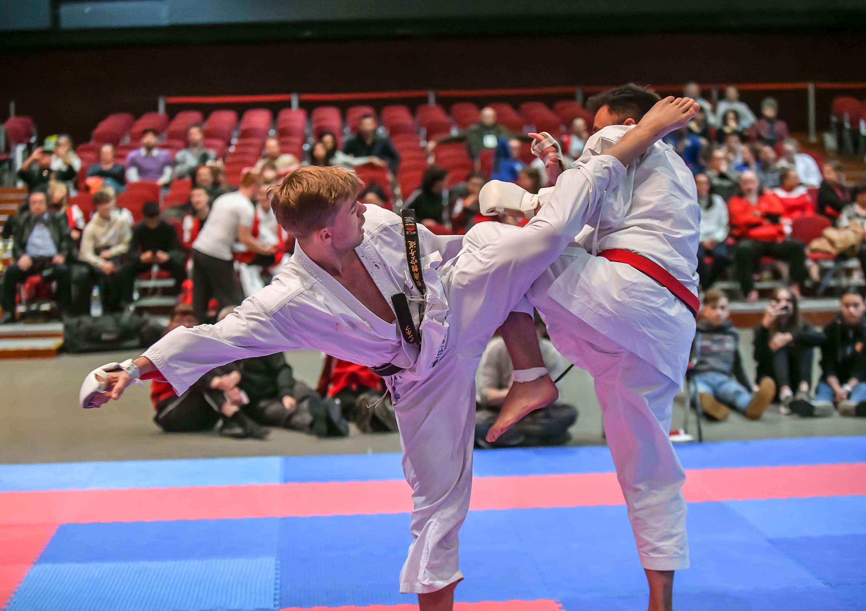 Till Nonhoff Kämpft am Samstag, 04.05.2019 in Bochum bei den Deutschen Meisteraschaften im Karate. Foto: Ingo Otto / FUNKE Foto Services