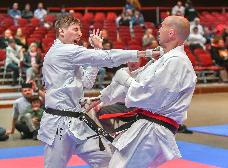 Daniel Gude Kämpft am Samstag, 04.05.2019 in Bochum bei den Deutschen Meisteraschaften im Karate. Foto: Ingo Otto / FUNKE Foto Services