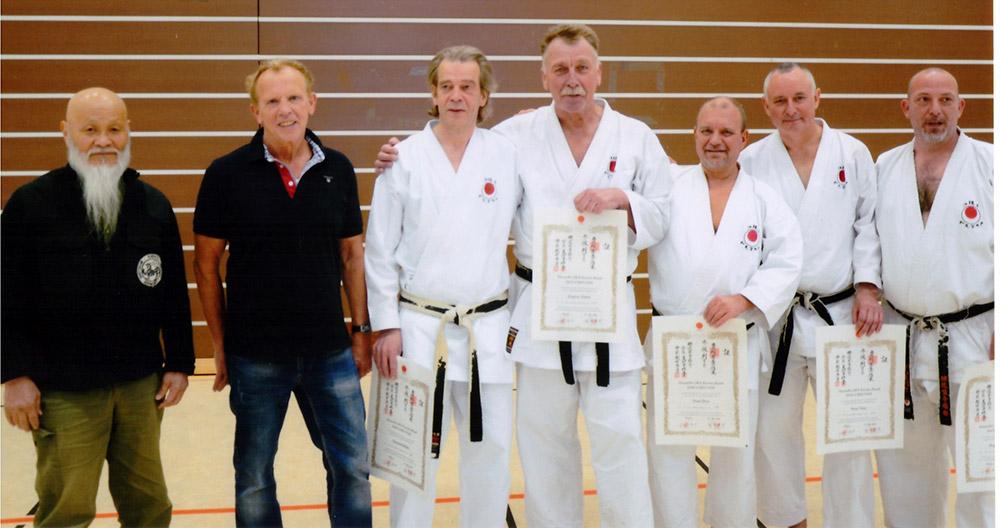 Prüfungen zum 3. DAN während der Karate DM in Bochum 2015